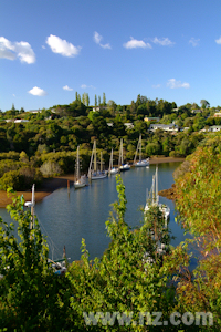 Kerikeri Inlet winds its way into the town.